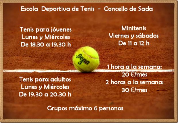 escuela deportiva de tenis sada