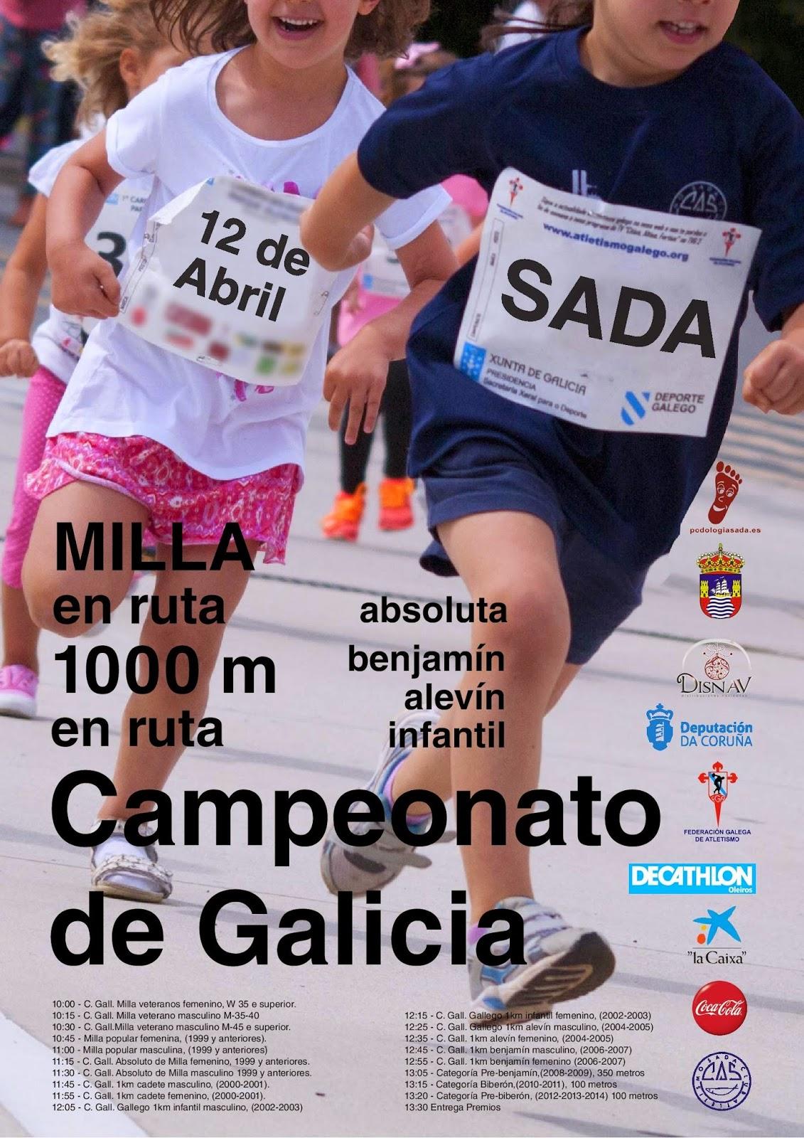 Campeonato Gallego de Milla 2015 Sada